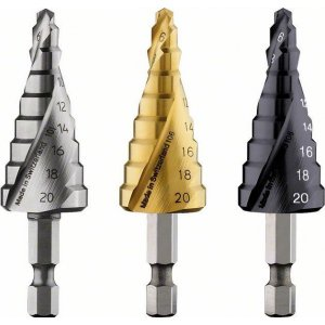 "Stupňovitý vrták HSS, šestihranná stopka 4 - 20 mm, 1/4"", 70,5 mm Bosch 2608597524"
