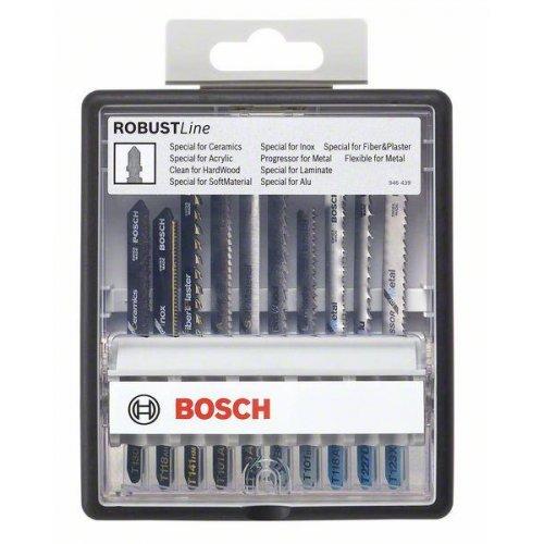 10dílná sada pilových plátků Robust Line Top Expert, se stopkou T Bosch