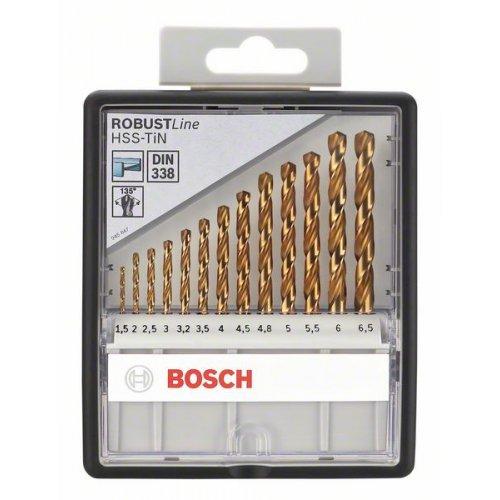 Sada vrtáků do kovu Robust Line HSS-TiN, 13dílná, 135° Bosch 2607010539
