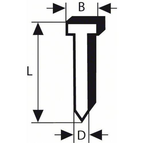 Hřeb se zápustnou hlavou SK64 55G 1,6 mm, 55 mm, pozinkovaný Bosch