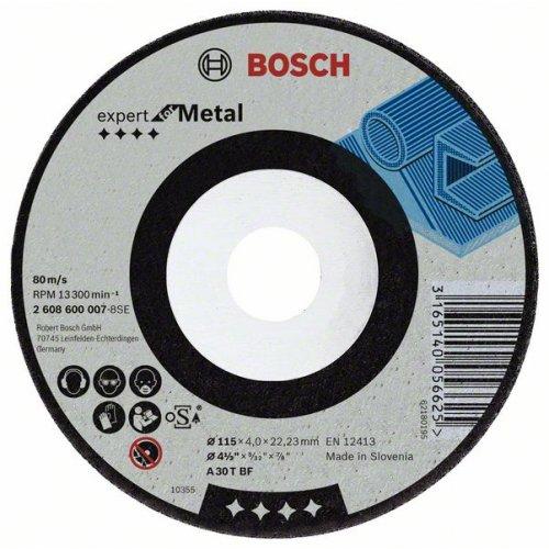 Hrubovací kotouč lomený - kov A 30 T BF, 180 mm, 22,23 mm, 6 mm Bosch