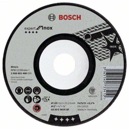 Hrubovací kotouč lomený - Inox AS 30 S INOX BF, 230 mm, 22.23 mm, 6 mm Bosch