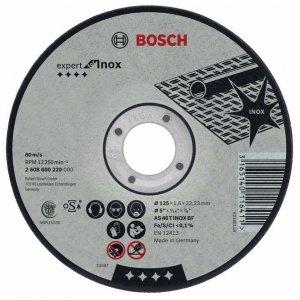 Dělicí kotouč rovný na nerez (Inox) AS 46 T INOX BF, 125 mm, 22,23 mm, 1,6 mm Bosch 2608600220