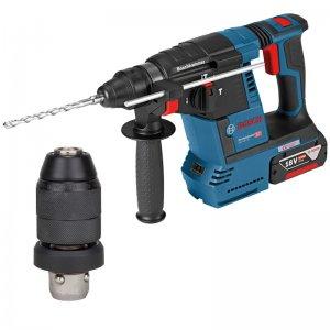 Aku kombinované kladivo SDS-Plus bez aku Bosch GBH 18V-26 F Professional + sklíčidlo