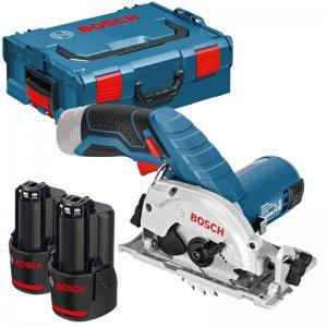 Aku okružní pila 2x3,0Ah + L-Boxx Bosch GKS 12V-26 Professional