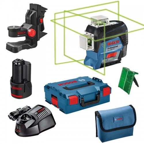 Křížový laser Bosch GLL 3-80 CG Professional L-Boxx 136 + držák BM1