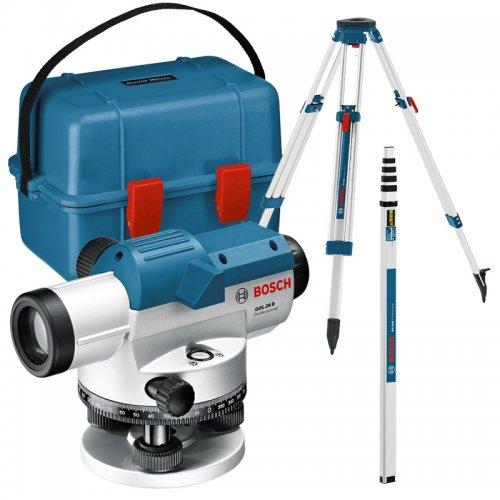 Optický nivelační přístroj Bosch GOL 26 D Professional + stativ BT 160 + nivelační lať GR 500 0 615 994 00E