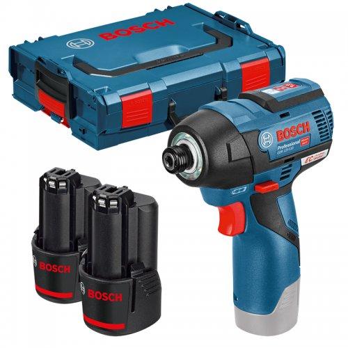 Aku rázový utahovák 2x3,0Ah + L-Boxx Bosch GDR 12V-110 Professional