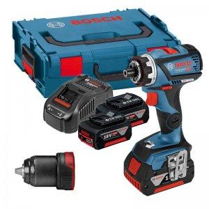 Aku vrtací šroubovák 2x5,0Ah Bosch GSR 18V-60 FC FLEX Professional 0 601 9G7 101
