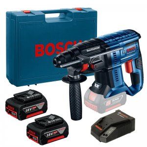 Aku vrtací kladivo SDS-Plus 2x4,0Ah Bosch GBH 180-LI Professional 0611911023