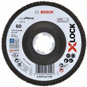 Lamelový kotouč lomené provedení Best for Metal 115mm Bosch X-LOCK 2608619198