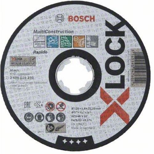 Řezný kotouč na kov Multi Contruction 125mm Bosch X-LOCK 2608619270