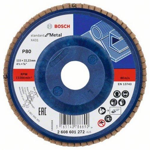 Lamelový brusný kotouč X431 Standard for Metal 125 x 23 mm, 80 Bosch 2608601276